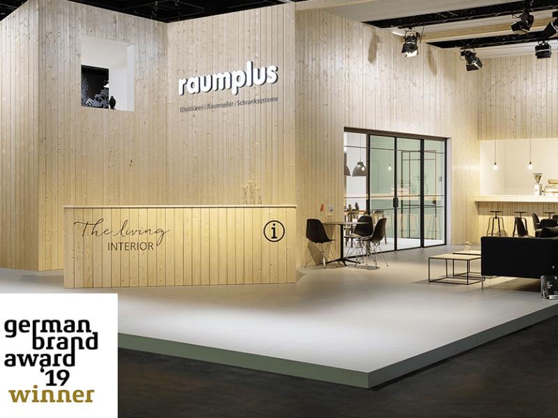 German Brand Award 2019 für unseren Partner raumplus